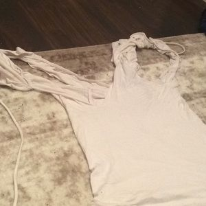 Other - White multiple butterfly straps with off shoulder